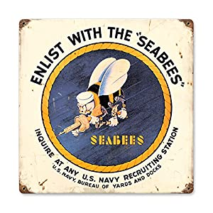 Seabees from Past Time Signs