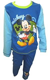 BOYS PYJAMAS 2 PACK DISNEY MICKEY MOUSE 1-4 YEARS OLD SNUGGLE FIT