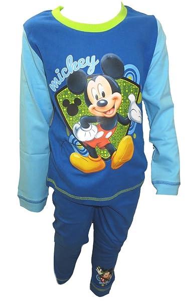 Disney Pijamas azules de Mickey Mouse Little Boy 12-18 meses