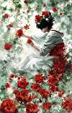 fairy paint by number - Diy oil painting, paint by number kit- Flower Fairy 1620 inch.