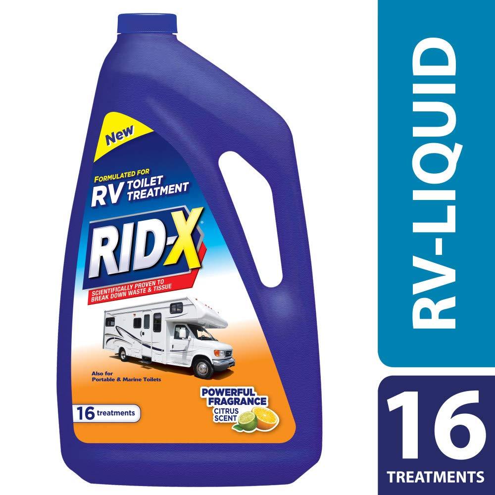 Rid-X RV Toilet Treatment Liquid, 16 Treatments, 48 fl oz