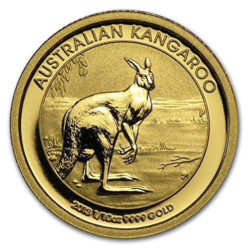 2013 AU Australia 1/10 oz Gold Kangaroo BU Gold Brilliant Uncirculated ()