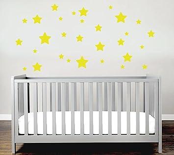 Sterne Sticker Set Kinderzimmer Wandsticker 30er Sterne Set Sticker