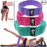 Hip Resistance Bands Set of 3 (Low, Medium and Heavy) - Hip Bands for Booty Building, Warm-up, Hip Workout, Booty Bands for Activating Glutes, Lifting - Ideal for Physical Therapy or Stretching