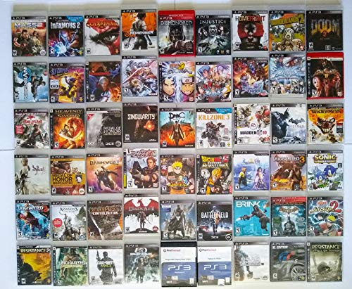 PS3 games Lot of 54 different games for Playstation 3 console, doom 3, etc... (Wii Games Lot)