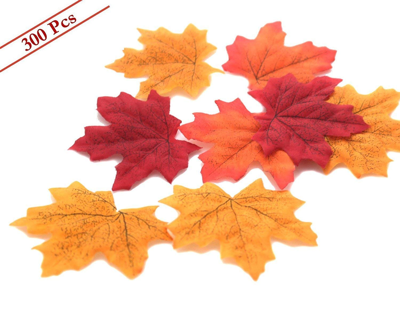 BABYHYY 人工メープルリーフ 秋の葉 バルク 多色詰め合わせ ガーランド ウェディングハウスデコレーション (メープルリーブ-300個) One Size TGHJUNGP962895 B07GD1W4B6 Maple Leaves-300pcs One Size
