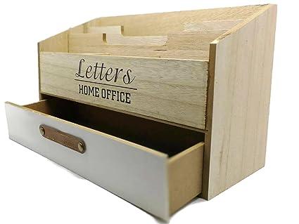 Box Ufficio Legno : Bada bing letter box ufficio organizer legno home office box sortier