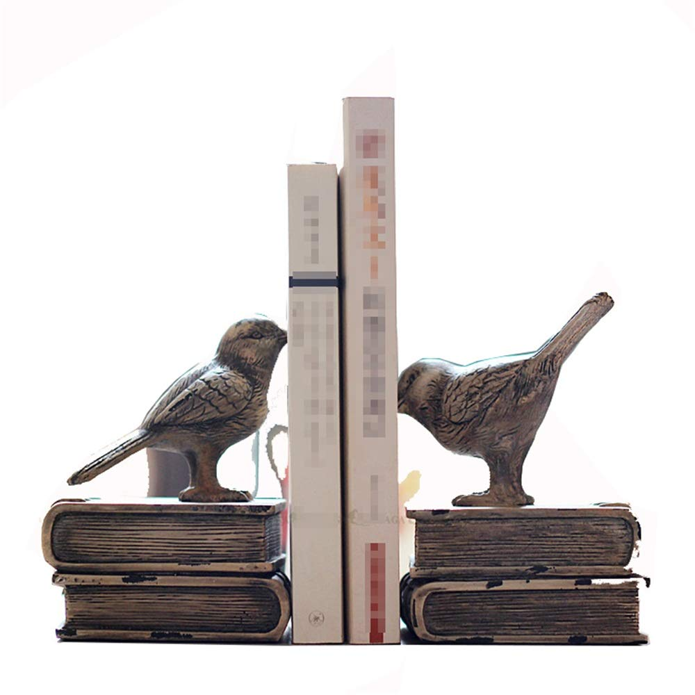 Dygzh Bookend Decorative Bookshelf Show Organizer One Pair of Retro Antique Library Table Book Version of Office Bookends Multi-Function Bookend (Color, Size : 11x13x15cm) by Dygzh