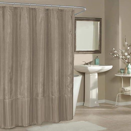 Amazon Com Duck River Textiles Belle Metallic Pin Dot Mildew Resistant Fabric Shower Curtain Liner For Bathroom Waterproof Water Repellent Antibacterial Assorted Colors 70 X 72 Inch Parchment Home Kitchen