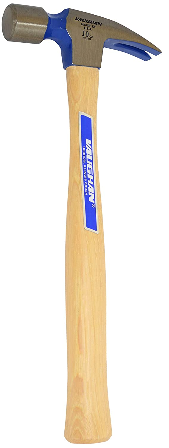 White Hickory Handle. Vaughan 9 10-Ounce InchLittle Pro-Inch Professional Rip Hammer Smooth Face