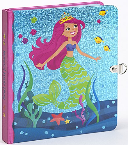 Peaceable Kingdom Mermaid Magic Shiny Foil Cover Lock and Key Diary