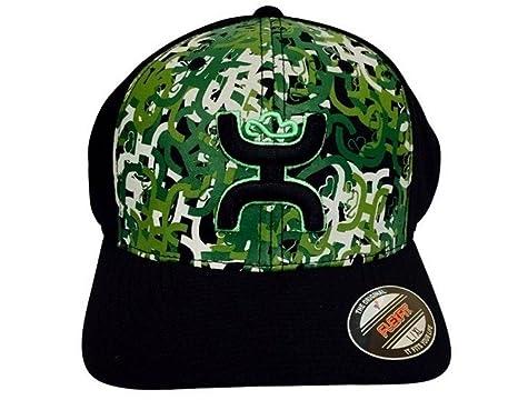 8771f8d2ec4 Hooey Hat -  Hamo  FlexFit Baseball Cap - Hooey Camo Black (Small ...