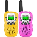 Kids Walkie Talkies Ninos 3-14 Year Old Girl and Boy Gifts Toys 22 Channels 2 Pack(Pink&Yellow) Children's Walkie Talkie…