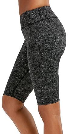 54c926c7b0 Amazon.com: Sipaya Women Yoga Shorts High Waist Knee Length Leggings ...