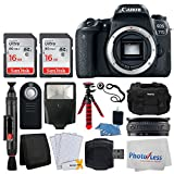 Canon EOS 77D DSLR Camera (Body Only) + 32GB Memory Card + Photo4Less Gadget Bag + Wireless Remote Control + Flexible Tripod + USB Card Reader + Slave Flash + Lens Band – Ultimate Accessory Bundle