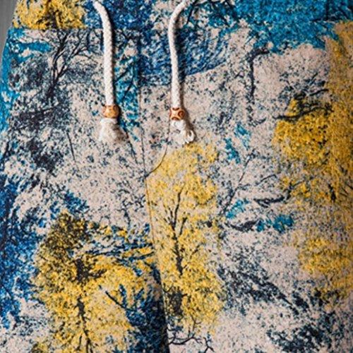 De Imprimés D'été Plage Lâche Élasticité Adeshop Hommes Sportswear Bleu Pantalons Travail Droit 2 Type Décontractée Taille Sport Grande Shorts New 0tB0pq