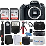 Canon EOS 77D DSLR Camera (Body Only) + 32GB Memory Card + Photo4Less Gadget Bag + Wireless Remote Control + Flexible Tripod + USB Card Reader + Slave Flash + Lens Band - Ultimate Accessory Bundle