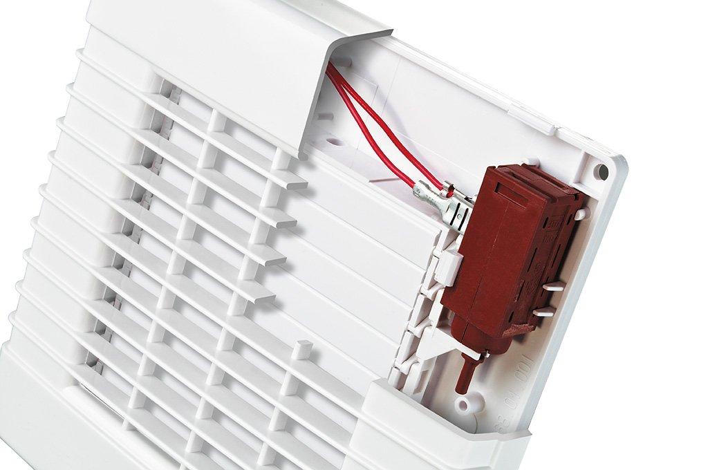230V Ventilateur dextraction avec obturateur /électrique interne et moteur /à roulement /à billes Fabriqu/é en Europe blanc 18.00W
