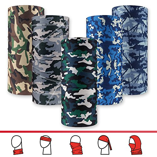 GOT-16-in-1-Headband-Camo-5PCS-Multifunctional-Microfiber-Sports-Headwear-Hunting-Fishing-Breathable-Moisture-Wicking-Works-as-Scarf-Mask-Neck-Gaiter-Bandana-Balaclava