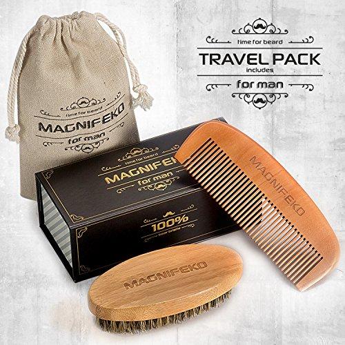 beard comb and brush grooming set for men home travel grooming kit natural handmade boar. Black Bedroom Furniture Sets. Home Design Ideas