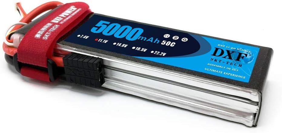 DXF 5000mAh 11.1V 50C 3S Lipo Batería con TRX Plug para ...
