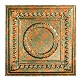 Fasade Easy Installation Rosette Copper Fantasy Lay In Ceiling Tile/Ceiling Panel (2' x 2' Tile)