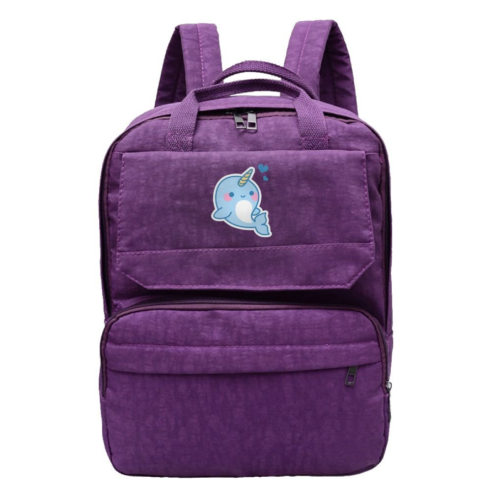 3dfdb4bec9a4 lovely Rongyingst Kawali Baby Narwhal Waterproof Hiking Backpack Travel Bag  Canvas Leisure Shoulder Bag For School