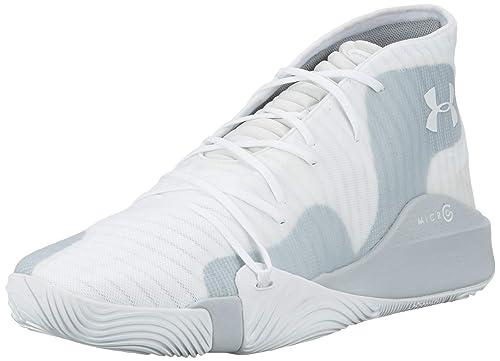 Under Armour Spawn Mid Zapatos de Baloncesto Hombre, Blanco (White ...