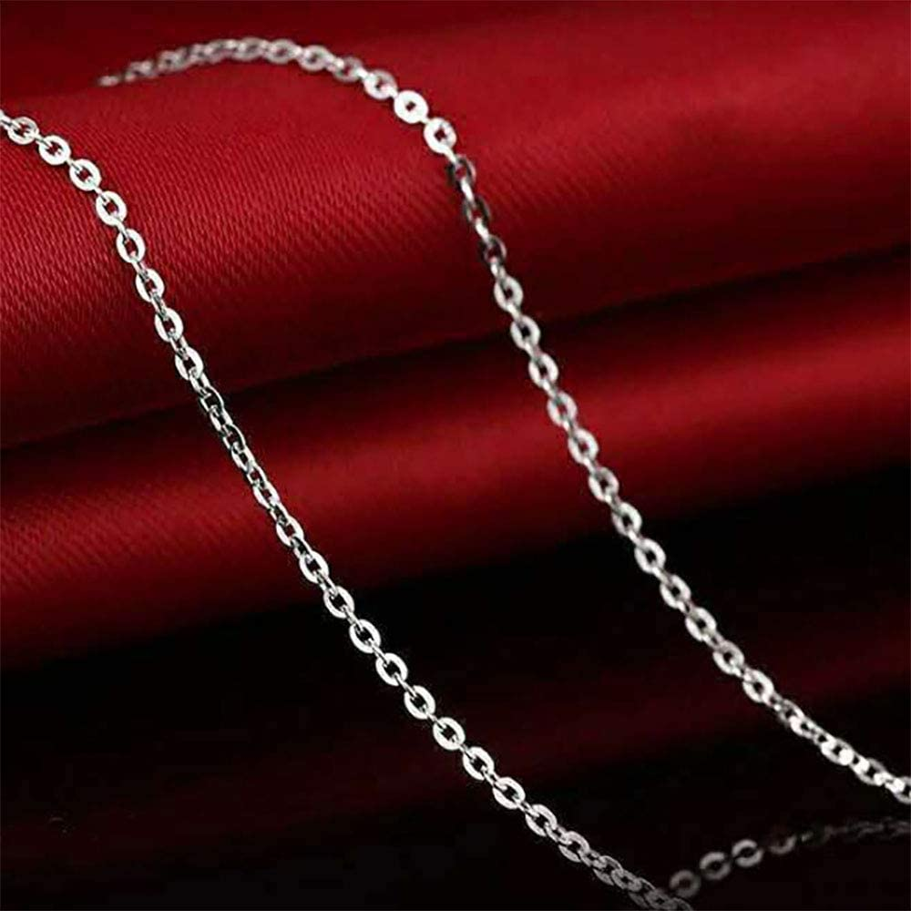 2.5 mm Siumir 39.4 Feet Silver Plated Link Jewelry Chain with 100 Jump Rings 30 Lobster Clasps DIY Making