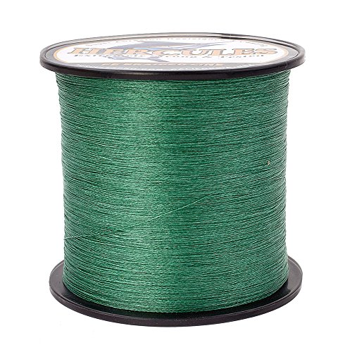HERCULES Braided Fishing Line 2000m 2187yds 6lbs-100lbs Pe Superline 4 Strands (Green 20lb/9.1kg 0.20mm)