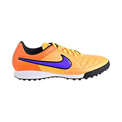 31882fd7ee4a5 Nike Tiempo Genio Leather TF Men s Soccer Cleats Shoes Lazer Orange  631284-858 (6.5