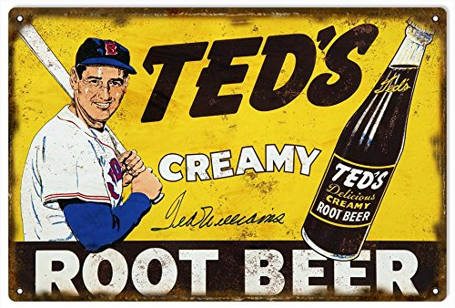 Teds Creamy Root Beer Tin - Ted's Creamy Root Beer Sign Country Advertisement