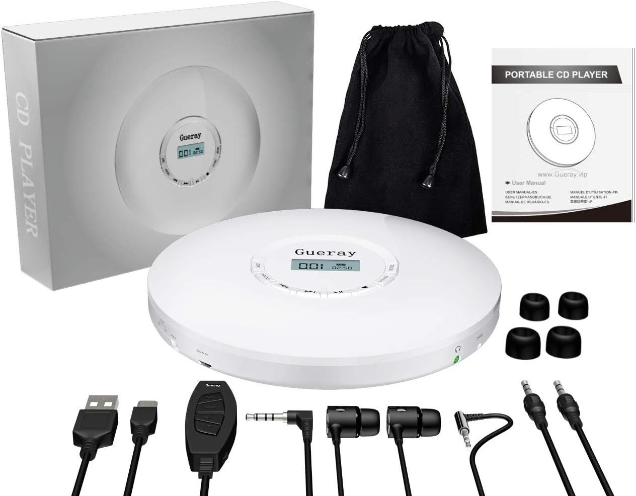 in Car and Travel NIXIUKOL Portable CD Player Black 1500 mAh ...