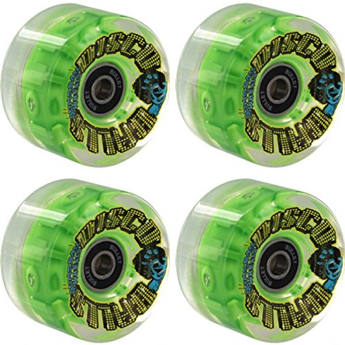 Santa Cruz Skateboards Slimeballs Disco Balls Clear / Green Skateboard Wheels – 60mm 78a (Set of 4)