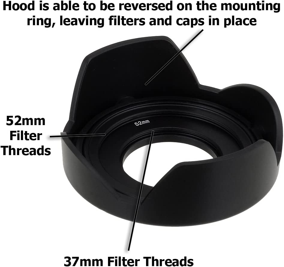 Detachable Tulip Lens Hood with Inner Pinch Cap for Micro Four Thirds Digital Camera Fotodiox Reversible Flower Hood for Olympus M.Zuiko Digital ED 14-42mm f//3.5-5.6 EZ Kit Lens