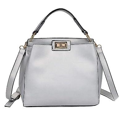 Amazon.com: Fashion Women Pure Color ladies Shoulder Bag ...