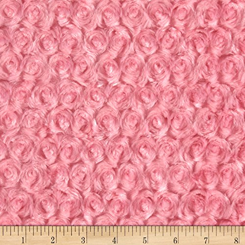 Shannon Fabrics Shannon Minky Rose Cuddle Paris Pink Fabric by The Yard, ()