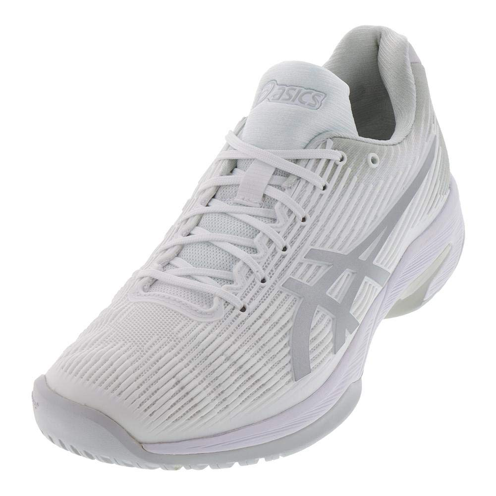 White Silver ASICS Solution Speed FF shoes Men's Tennis