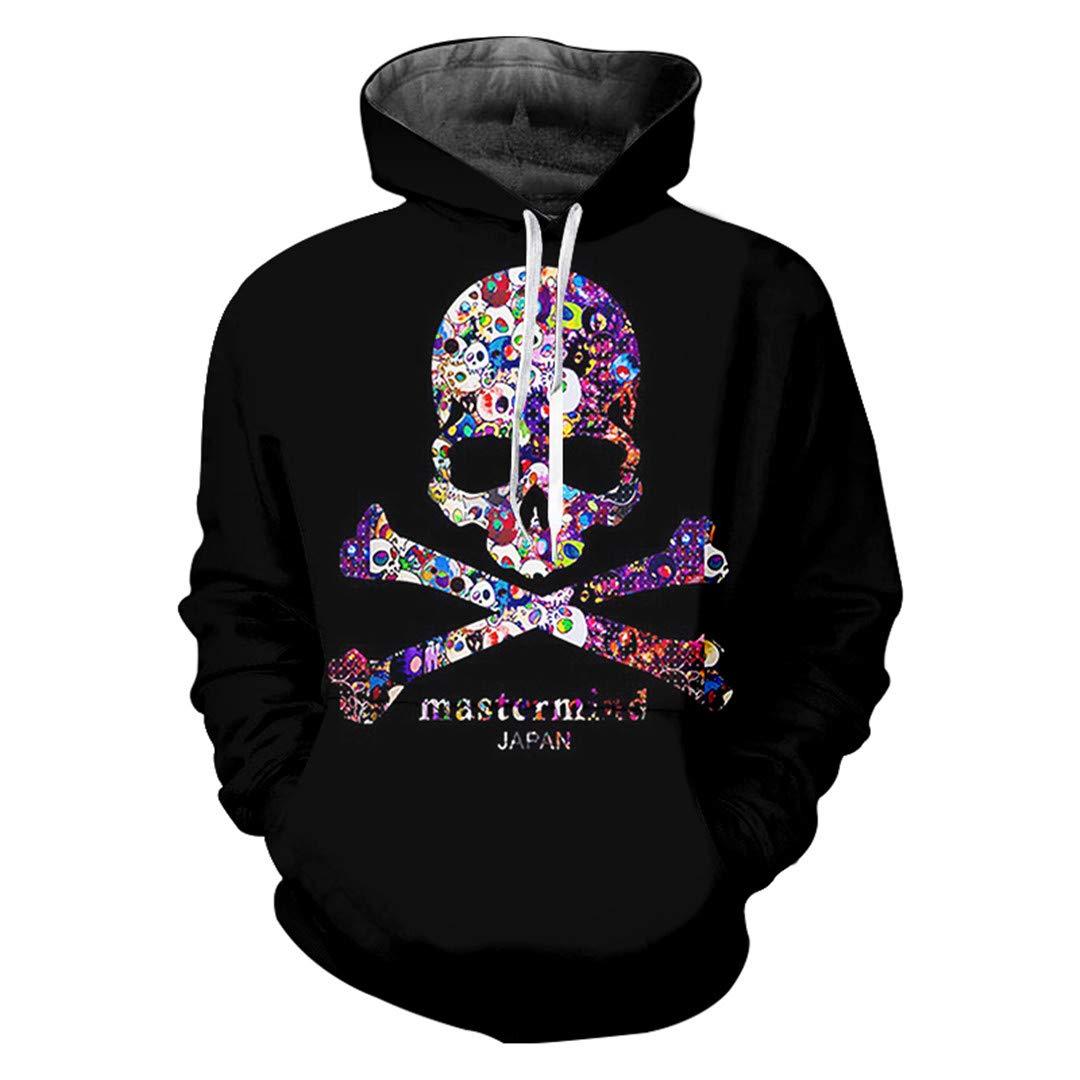 Man Hipster Colorful Skull Hoodies 3D Printed Punk Rock Big Size Streetwear
