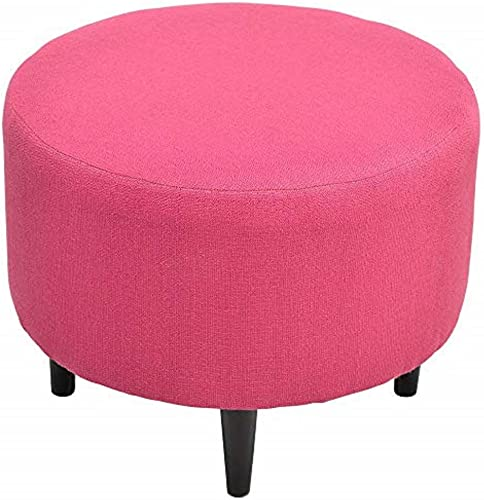 Sole Designs Candice Series Sophia Collection Round Upholstered Ottoman