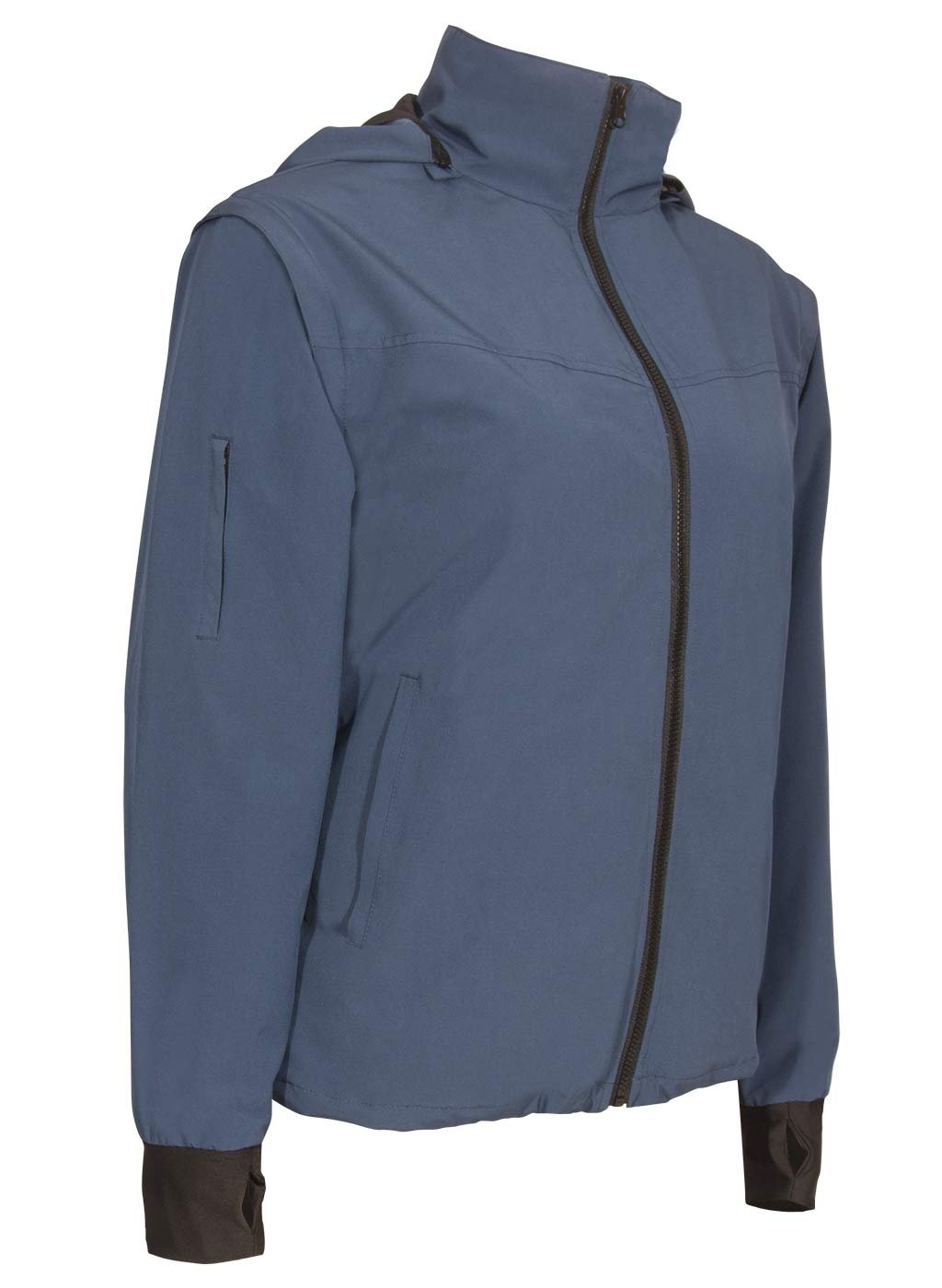 Joey Travel Jacket with Hidden Pockets. (Medium, Blue) by Global Travel Clothing (Image #2)