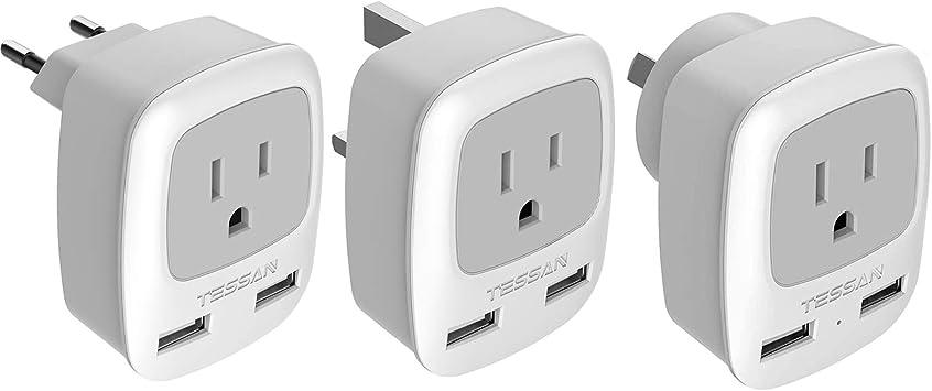 Germany Travel Adapter Travel Plug Adapter For Australia New Zeland White