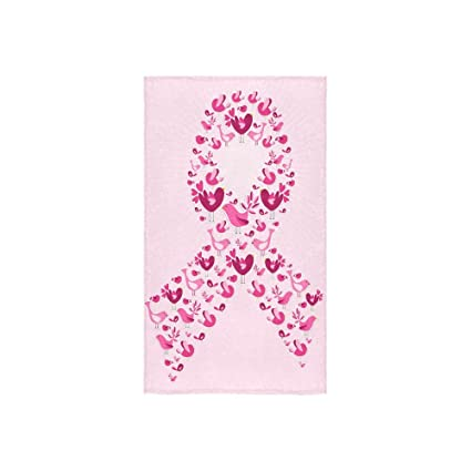Moda campaña contra el cáncer de mama lazo rosa diseño personalizado mano toalla absorbente (16