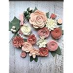 18-Flowers-24-leaves-Wool-Felt-Flowers-Pastel-Blush-DIY-Christmas-Flower-Embellishment-Wreaths-Garlands-Headbands