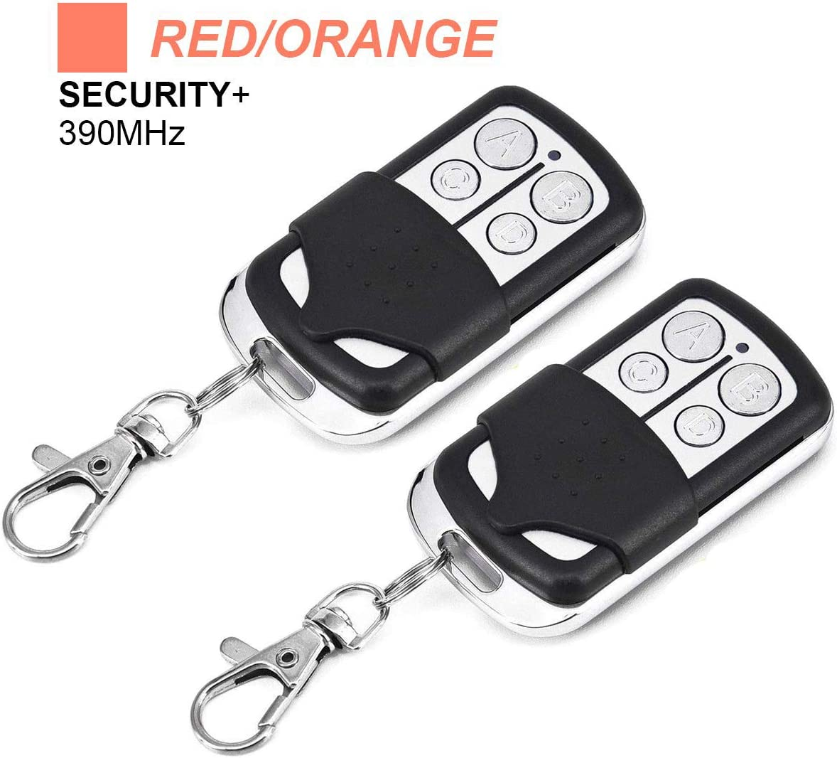 Garage Door Openers Replacement Remote 2 Pack for LiftMaster 970LM 971LM 972LM 973LM - Chamberlain 953CB - Craftsman 139.53681 Remote - Compatible with Red/Orange Learn Button 390MHz