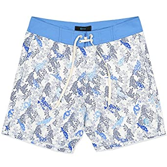 f66c21056a DCK Boardshorts Men's Pakiri, White Blue, 36: Amazon.co.uk: Clothing