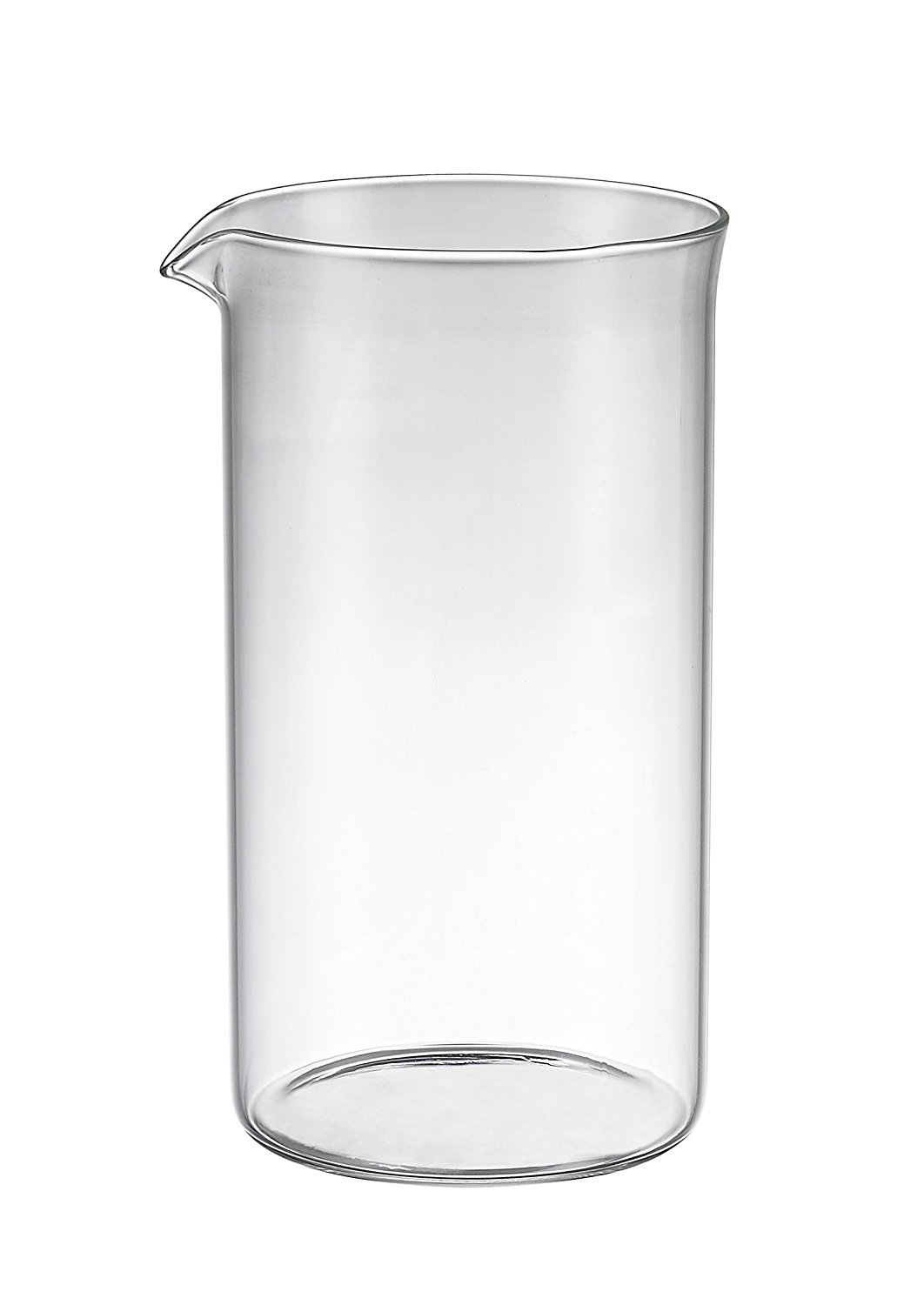 Bruntmor Universal Replacement beaker Spare Heat & Shock resistant Borosilicate Glass Carafe for French Press Coffee Maker, 8-cup, 34-ounce (Fits most Bodum's and all other 8 cup French Press that has a drip spout) BRB34