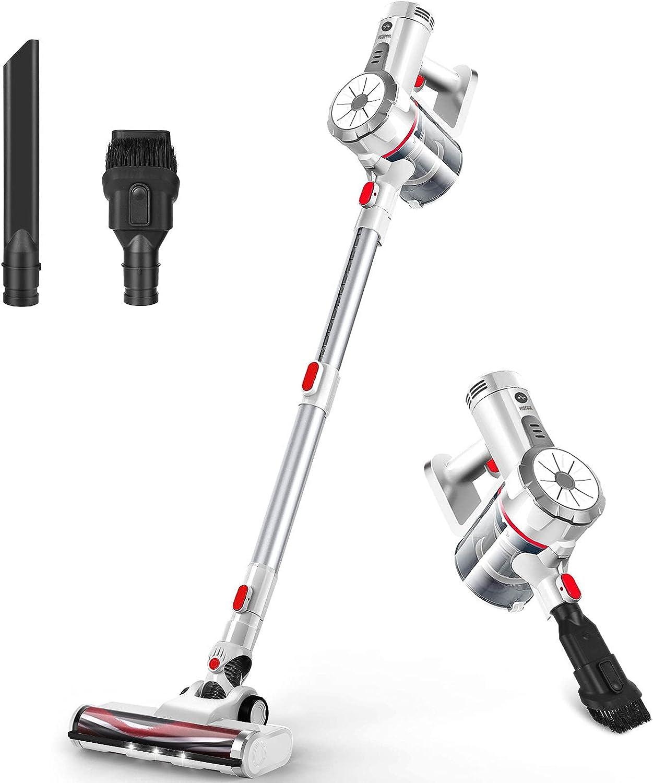 VOSFEEL Z10 Aspiradora Escoba sin Cable 18000PA 170W 4 en 1 con LED para Familia Oficina Coche (170W)