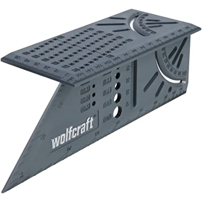Wolfcraft 5208000 Escuadra 3D, 0 W, 0 V, Gris, 150 x 275 x 66 mm