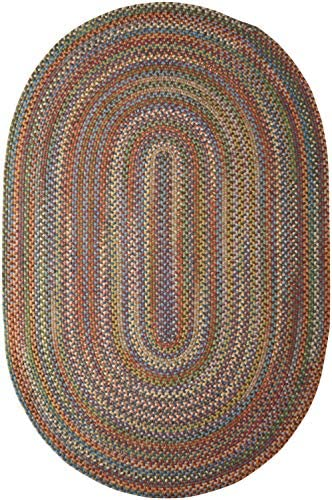 Colonial Mills Rustica Braided Rug, 8 by 11-Feet, Classic Multicolor